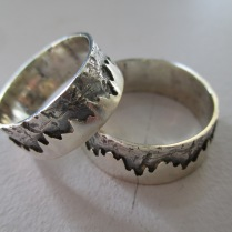 Sterling Silver Wedding Set - Made to order - Priced from $165