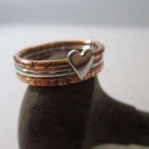 A mixture of 18ct gold, Sterling Silver & Copper - Select any design in any metal -Made to order - Priced from $65