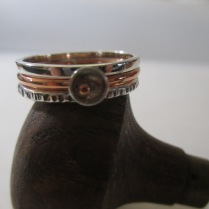 A mixture of 18ct gold, Sterling Silver & Copper - Select any design in any metal - Made to order - Priced from $65